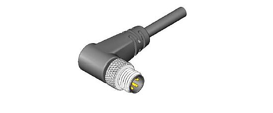 Bild 1 - Cable Assembly with circular Connector M8 male 90° shielded