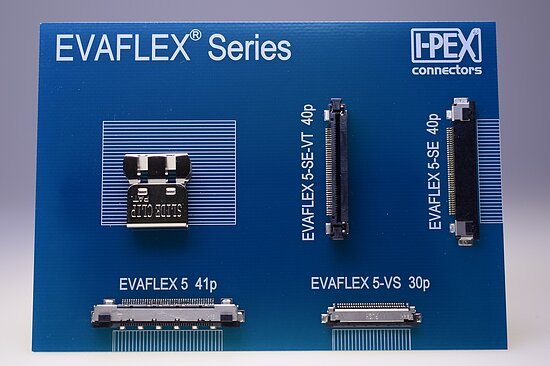 Bild 1 - FFC/FPC-Connector Evaflex 5-HD 0,5mm horizontal Pitch >10Gbit/sec. Shield -40..+85°C