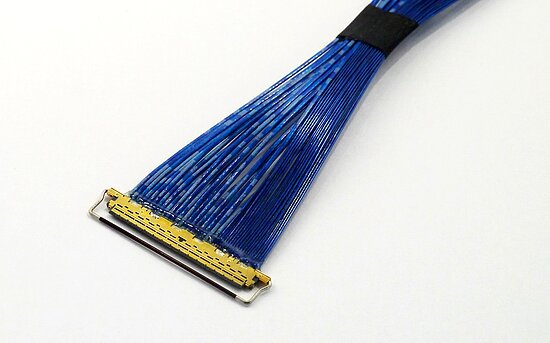 Bild 1 - Ipex Micro Coax Cabel Cabline CA 30-30 Pos. TL200mm AWG42 50Ohm 1:n Round Binding RoHS